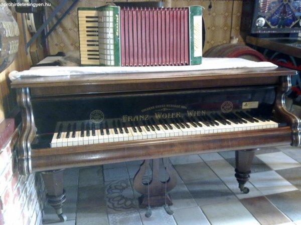 1881 es acéltőkés zongora elado