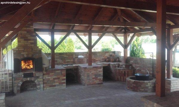 Kerti konyha építés ! Kőmüves kemenceépitő mestertől !