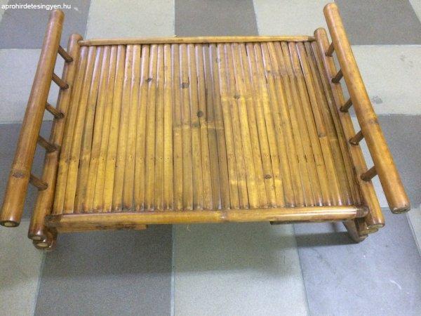 Félár Rattan Kínálóasztal Ágy összecsukható bambusz asztal