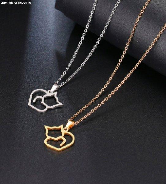 Valetta cicás / macskás bizsu nyaklánc - trendi ékszer