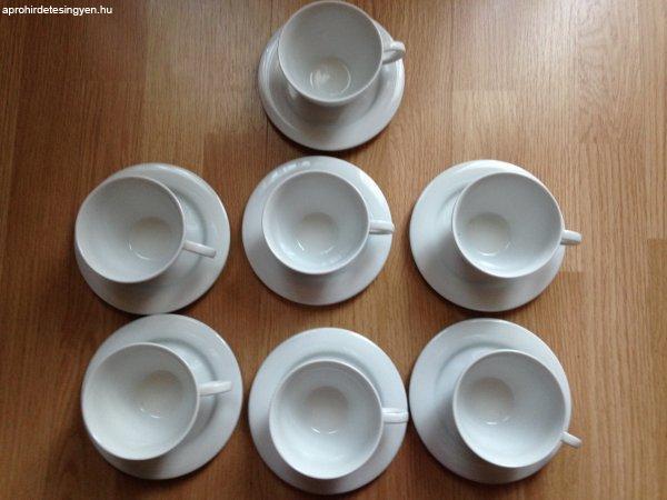 Zsolnay gastro fehér teás/kávés csészék alátéttel