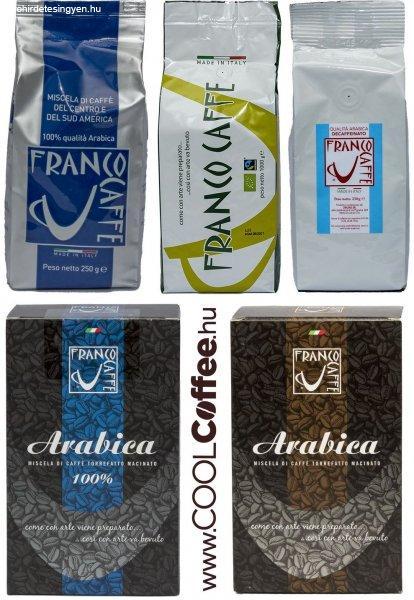 Szemes kávé - őrölt kávé - kávépárna - biokávé termékek