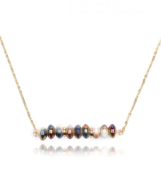 Zita bizsu kristály nyaklánc - divat ékszer