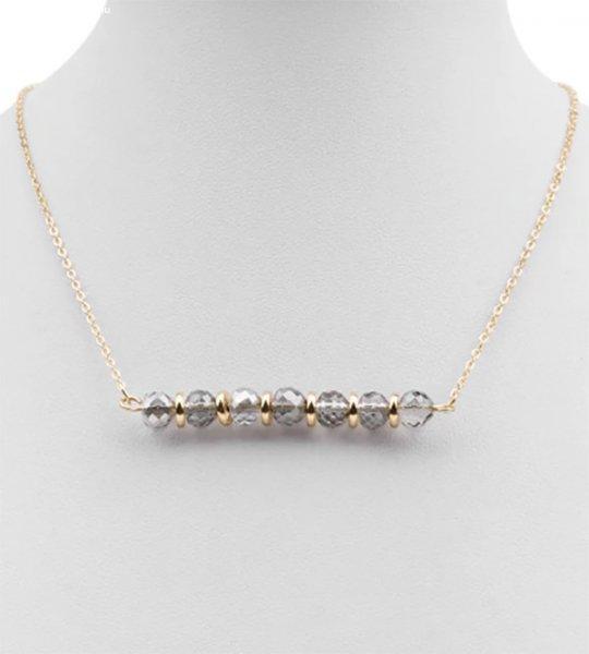 Zoja bizsu kristály nyaklánc - divat ékszer