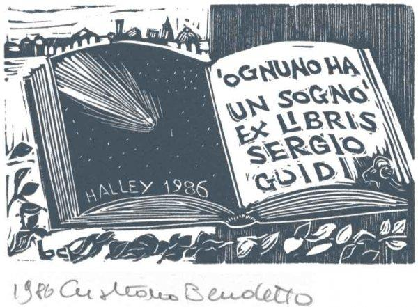 BECCATELLO, Cristiano (olasz) grafikája, ex libris Sergio GU