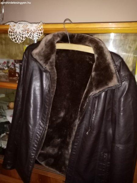Téli bőr kabát