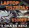 Laptop tisztítás csak 6500Ft és megvárható, 1 óra az egész