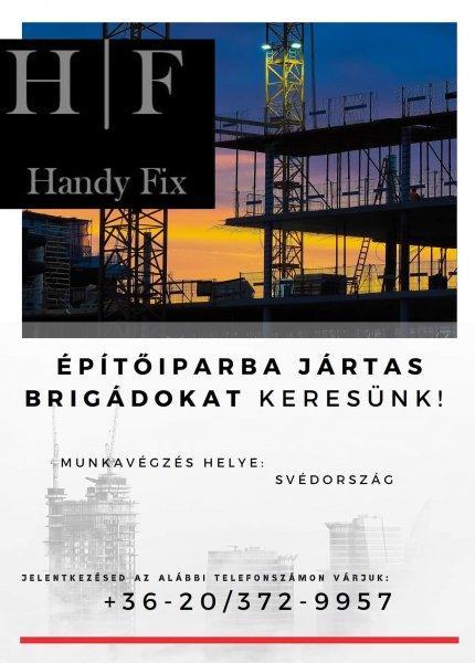 Azonnali kezdéssel!Ács tetőfedő és építő munkás Svédországba