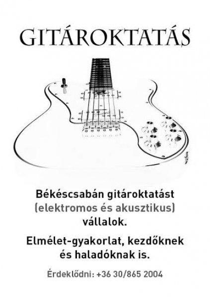 GITÁROKTATÁS