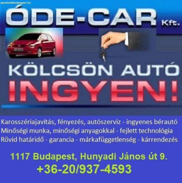Karosszériajavítás, autófényezés, biztosítási ügyintézés