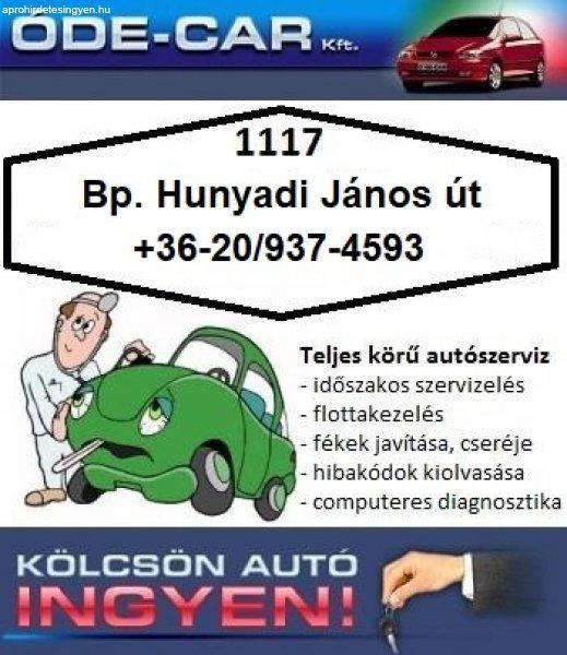 Autójavítás, ingyenes csereautóval, Bp. 11. kerület