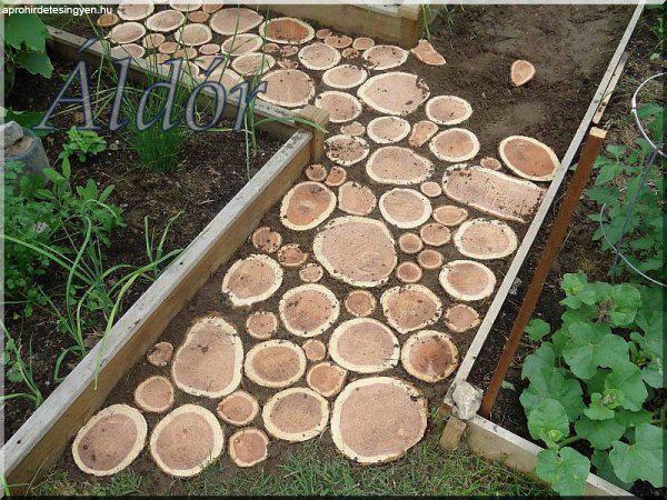Akácfa korongok kerti utak építéséhez!