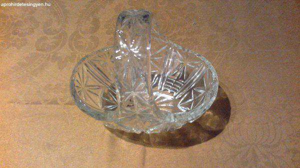 Retró..üveg kosárka a 60-as évekből