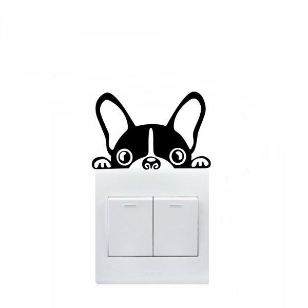 Bulldog konnektor/villanykapcsoló gyerekszoba matrica
