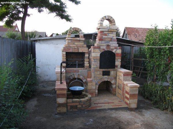 Szabadtéri kerti konyha Kőmüves kályhás mestertől !