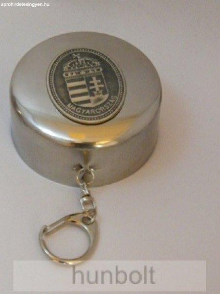 Kihúzható fém pohár ón Erdély címkével (kulcstartó) 1,5dl