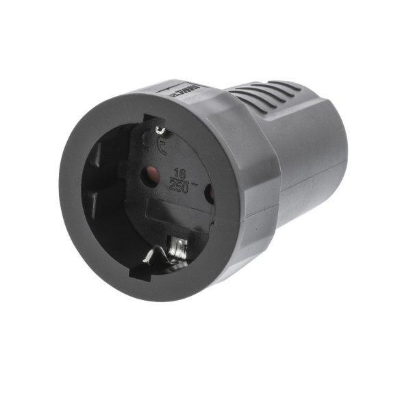Tápcsatlakozó Aljzat PVC Fekete - Valueline (VLEP11801B)