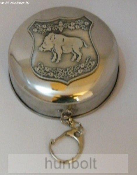 Kihúzható fém pohár ló ón matrica, 6x4,5 cm (kulcstartó) 3d