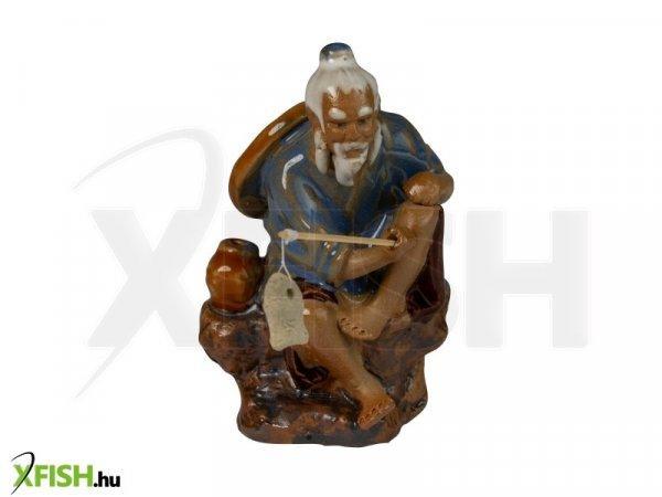 Energofish Kerámia Figura Horgász Kulaccsal 6x6x10 cm