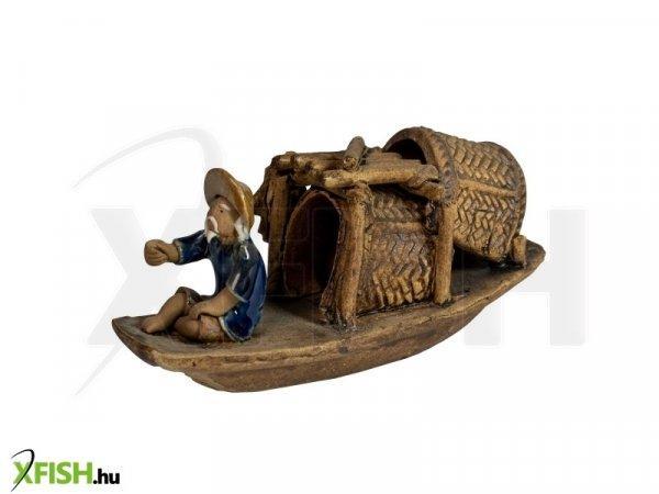 Energofish Kerámia Figura Csónak Elejében 13x5x6 cm