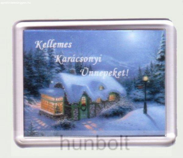 Karácsonyi hűtőmágnes VIII. (műanyag keretes)