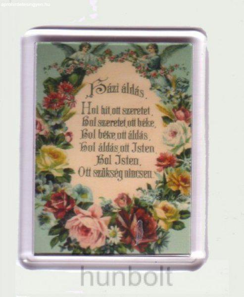 Házi áldás hűtőmágnes (műanyag keretes)